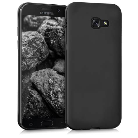 tpu silicone cover for samsung galaxy a5 2017 black matt soft silicon ebay