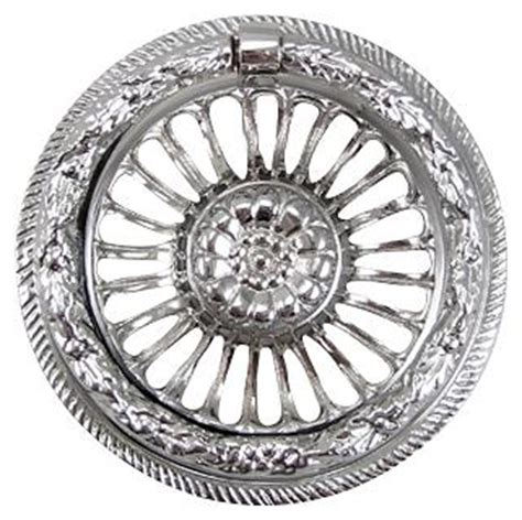 polished chrome cabinet ring pulls 3 5 8 inch solid brass radiant flower ring pull polished