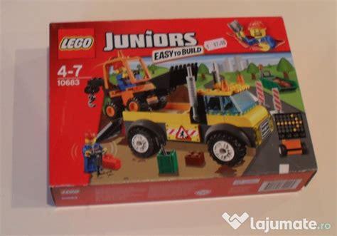 Lego 10683 Juniorsroad Work Truck lego juniors 10683 road work truck sigilat 132piese 4 7ani 87 lajumate ro