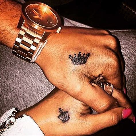dope couple tattoos king and ιтѕ συя ℓιттℓє ℓσνє