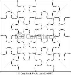 puzzle le schablone archivio illustrazioni di puzzle fondo sagoma 4x4