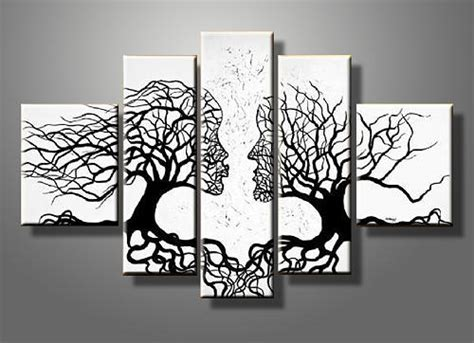 Decorate Your Home Online by Abstract Kiss Tree Canvas Gallery Wrap Wall Art Set Painting By Summer Chen