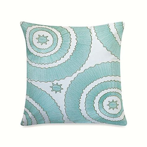 anthology bungalow bedding anthology bungalow embroidered square throw pillow bed bath beyond