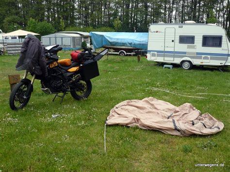 Motorradtour Zelt richtiges zelt zur tour welche form welches modell