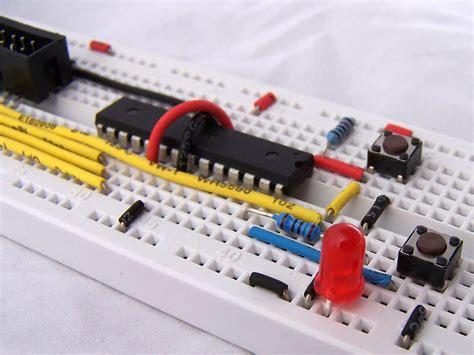 breadboard circuit atmega8 protostack