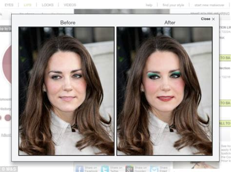 what makeup do they use for ambush makeover on today show with hoda and kathy kate middleton s extreme makeover m s virtual beauty
