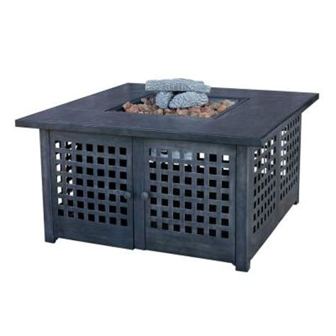 uniflame 20 in slate tile propane gas pit gad920sp