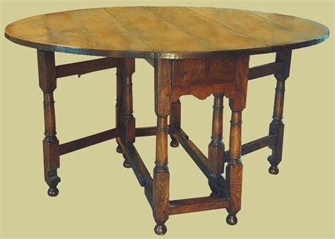 small gateleg table solid oak 17th century style