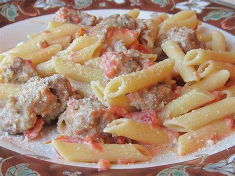 pasta sausage vodka cream pasta with italian sausage recipe dishmaps