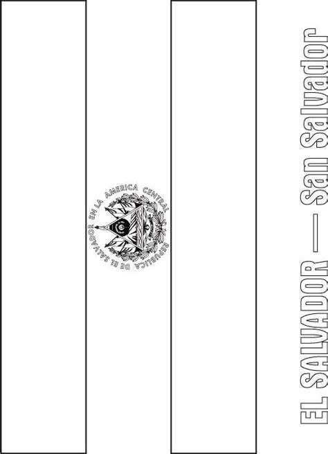 el salvador flag coloring page download free el salvador