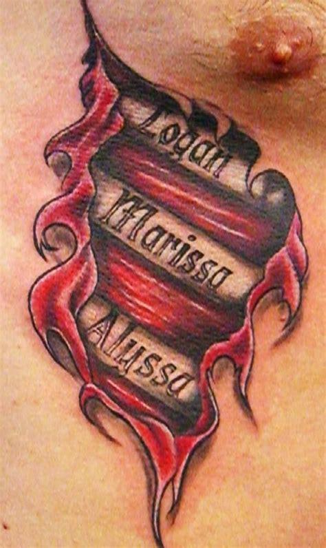 tribal rip tattoos realistic ripped skin tattoos tattoo4 design