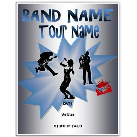 band flyer templates free band flyer templates for ms word or publisher