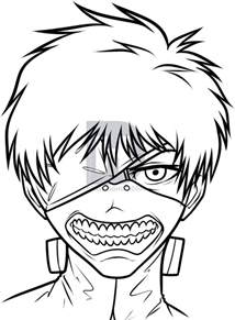 how to draw kaneki ken from tokyo ghoul step by step