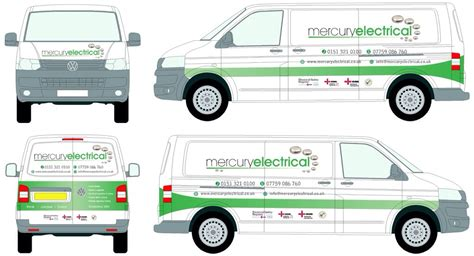 van sign writing wirral electrician mercury electrical
