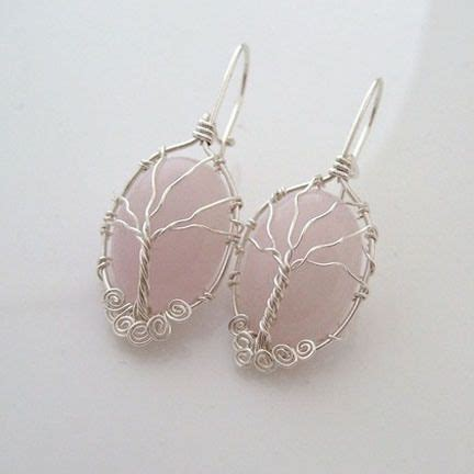 how to make jewelry with wire and stones wire wrapped tree earrings 29 cool diy wire