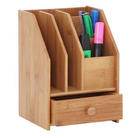 Drawer Desk Organizer Howards Storage World Howards Bamboo Desk Organiser With