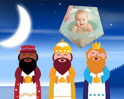 fotos reyes magos montaje lindo fotomontaje infantil con los reyes magos