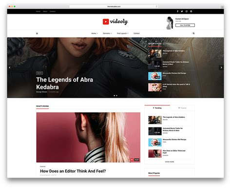 themes wordpress youtube best wordpress video themes for embedded and self hosted