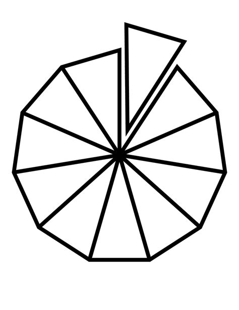 Geometry The Fraction Of The Larger Hexagon That Is - fractions of 11 sided polygon clipart etc