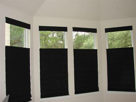 Black Window Blinds Shades Black Out Room Darkening Shades