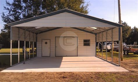 Carports With Storage Shed by Steel Utility Carport Carport Central