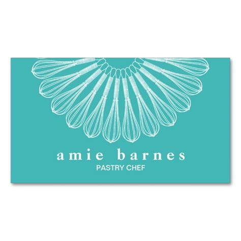 pastry chef business card templates pastry chef whisk logo catering bakery business card