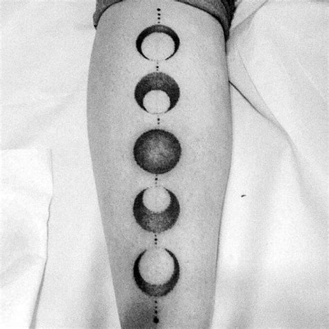 moon cycle tattoo 75 moon phases designs for illuminated ideas