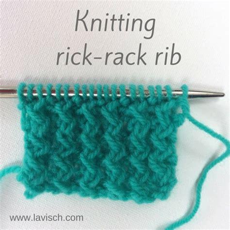 how to do ribbing in knitting tutorial knitting rick rack rib la visch designs