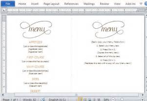 5 course meal menu template best thanksgiving templates for microsoft word