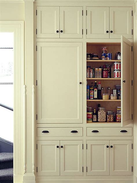 Wall To Wall Cupboards - shallow pantry cabinets houzz