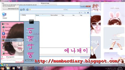 download themes kpop for windows 7 free theme for windows 7 update enakei korean cartoon