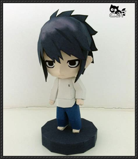 Papercraft Figures - note chibi l free figure papercraft p
