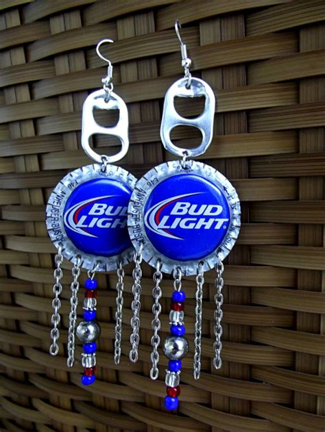 how tall is a bud light beer bottle upcycled bud light beer bottle cap by mercymooncreations