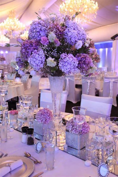 light purple wedding centerpieces