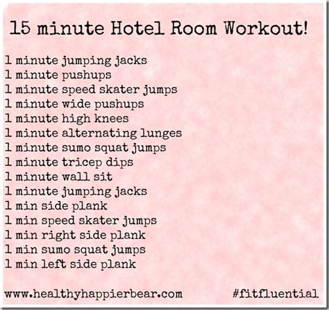 15 minute hotel room workout my healthy happier