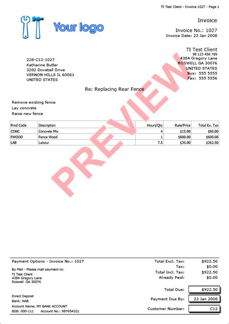 trade invoice template trade invoice invoice exles