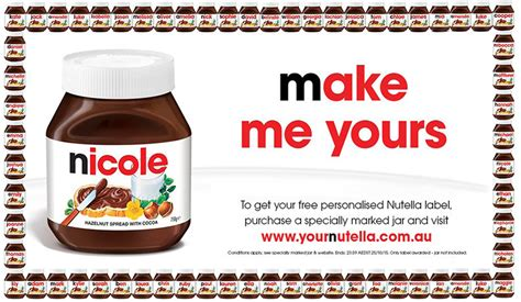 printable nutella label vopp nutella case study k w doggett fine paper