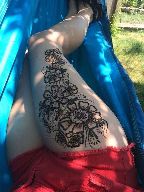 henna tattoo designs for your side best 25 henna thigh ideas on mandala
