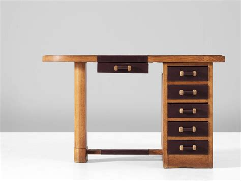 Small Oak Desk by Small Oak Desk With Leather Top For Sale At 1stdibs