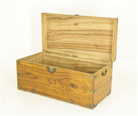 wooden trunk antique wooden trunk brass corners handles originating