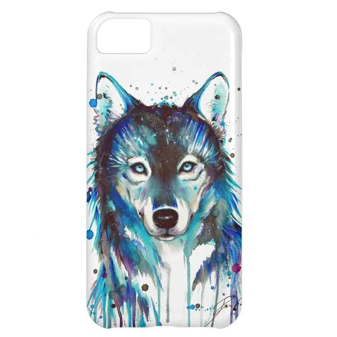 Casing Vintage Wolf Print For Iphone 5c 5 C watercolor wolf iphone 5c plus