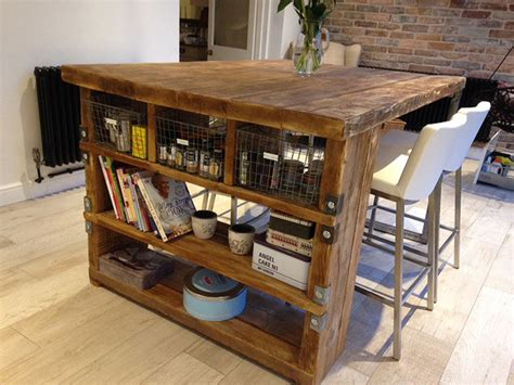 industrial style kitchen island industrial mill style reclaimed wood kitchen island