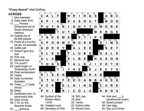 usa today crossword may 13 matt gaffney s weekly crossword contest mgwcc 080