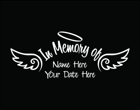 In Memory Of Stickers in memory of decal car custom window vinyl sticker with