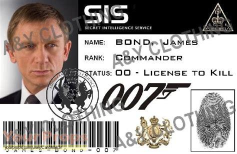 mi6 id card template bond quantum of solace bond mi6 id card replica prop
