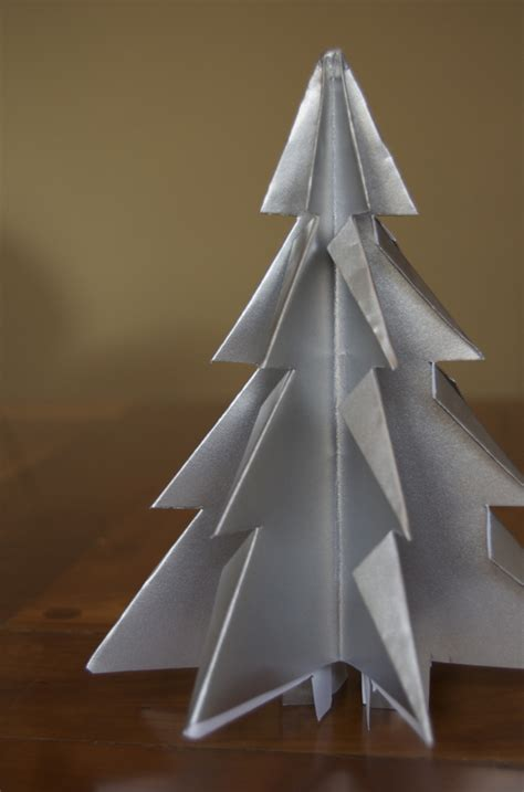 Folded Paper Tree - how to make folded paper kirigami trees