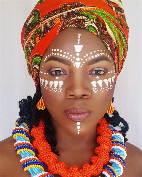 african tribal women face paint african face painting and zulubeads www zulubeads etsy