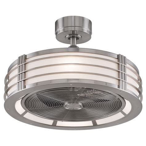 Fanimation Fp7964bn Brushed Nickel 23 Quot Ceiling Fan Ceiling Fan Drum Light