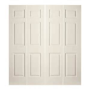 72 Closet Doors Shop Reliabilt 72 In X 79 In 6 Panel Hollow Molded Composite Interior Bifold Closet Door At