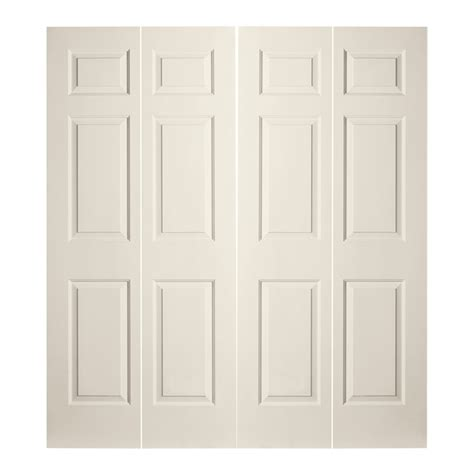 Bifold Closet Doors Lowes Shop Reliabilt 72 In X 79 In 6 Panel Hollow Molded